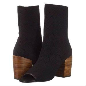Kelsi Dagger Brooklyn Macey Knit Peeptoe Boots